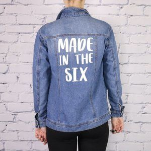 Oversized denim jacket Made in the six c2